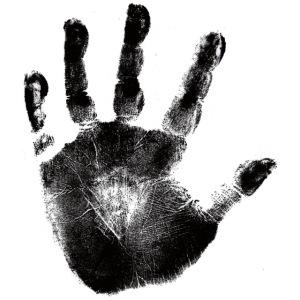 Black Handprint Graphic Design Picture