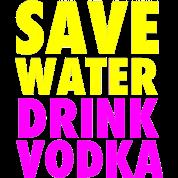 Save Water Drink Vodka Neon Party Design