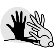 hand shadow rabbit