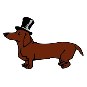 Brown Dachshund in Top Hat