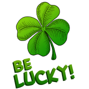 Be Lucky! Four-leaved Clover