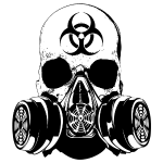 Biohazard Zombie Skull