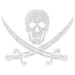 Distressed Jolly Roger - Classic Pirate Flag