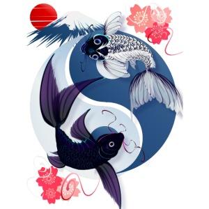 Yin and Yang Koi