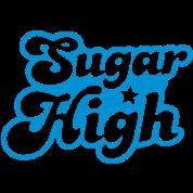 sugar high blue in a funky font