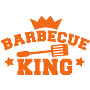 barbecue BBQ king with a crown stars and a spatula