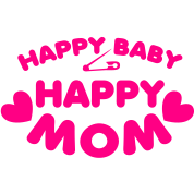 happy baby happy mom with love hearts