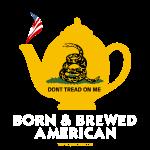Tea Pot - Born & Brewed on dark
