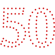 dotted number 50 (1c)