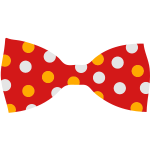 A bow tie with dots