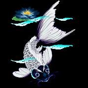 White Koi-Blue Lily