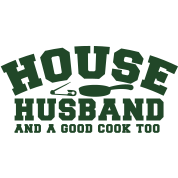 HOUSE HUSBAND and a good cook too- with a pan! and a safety pin