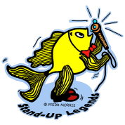 Stand-Up Fish funny comic cartoon