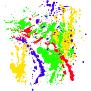 Spray Paint Splatter Multi Color Graffiti Graphic