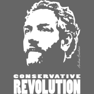 Design ~ Breitbart - Conservative Revolution - white on tra