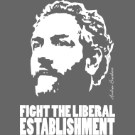 Design ~ Breitbart - Fight the Establishment - white on tra