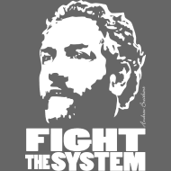 Design ~ Breitbart - Fight the System - white on transparen