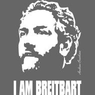 Design ~ I am Breitbart - white on transparent