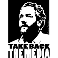 Design ~ Breitbart - take back the media - black