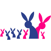 really big rabbit family