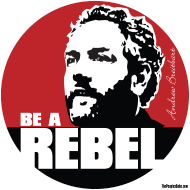 Design ~ Breitbart - be a rebel - round