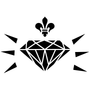 diamond with fleur de lis (1c)