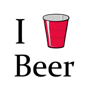 i love beer i heart red solo cup shirt