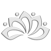 Lotus Flower, digital silver, symbol of perfection and enlightenment, sacred symbol