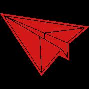 Retro origami paper folding airplane jet Vintage