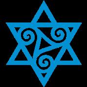 TRISKELE: Yin power symbol, vector, Merkaba, Energy Symbol, Protection Force