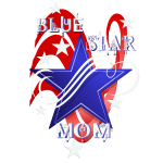 Fancy Blue Star Mom