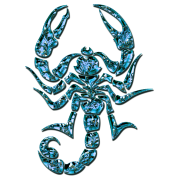 Scorpion, digital blue, Scorpio