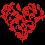 floral heart / coeur floral (1c)