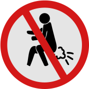 Funny NO Farting Thai Sign