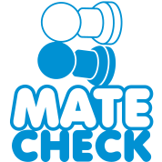 MATE CHECK sexy chess pieces wordplay on checkmate