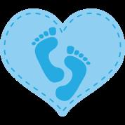 Baby Boy Footprint Heart Maternity T-shirt ...