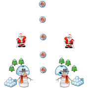 christmas snowmans Scene Father Christmas