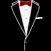 Tuxedo Red Bowtie