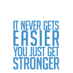 you just get strongerwht Gym Motivation