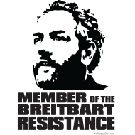 Design ~ Breitbart: member of resistance - black