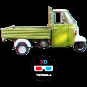 Ape truck 3D vintage
