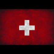 flag of Switzerland red square white cross t shirt