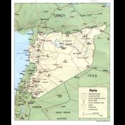 Syria Iraq Turkey Jordan map t shirt