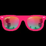 sunglasses palms and beach