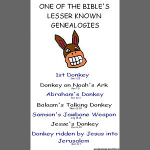 donkey genealogy tshirt