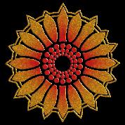 Sunflower - Follow the light!, digital glitter, symbol of vitality, joy and confidence, energy icon, symbol of green politics
