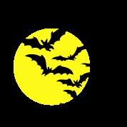Moon & Bats TWO COLOR VECTOR