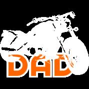 Biker DAD White/Orange Motorcycle