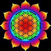 Flower of life, Lotus-Flower, Heart Chakra, Rainbow, energy symbol, healing symbol