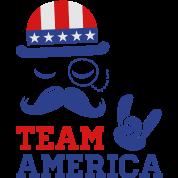 Fashionable cool American Sir with USA flag rocks for sports olympics champion America